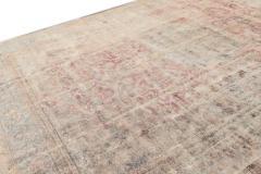 Vintage Distressed Wool Rug 10 X 14 - 1557919