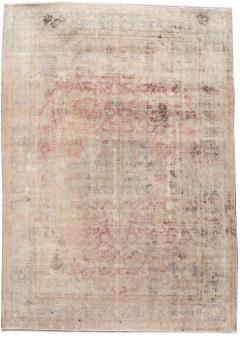 Vintage Distressed Wool Rug 10 X 14 - 1557925