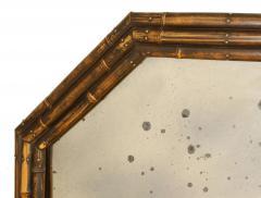 Vintage English Bamboo Mirror - 1100367