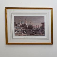 Vintage Engraving of the Blue Mosque Circa 20th Century - 1401208