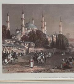 Vintage Engraving of the Blue Mosque Circa 20th Century - 1401210