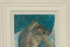 Vintage Etching of a Sleeping Person - 1585907