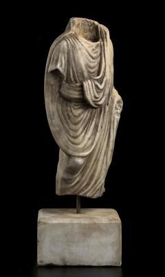 Vintage Figurative Marble Torso Sculpture of a Man Grand Tour After the Antique - 2000789