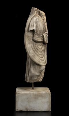 Vintage Figurative Marble Torso Sculpture of a Man Grand Tour After the Antique - 2000790