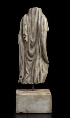 Vintage Figurative Marble Torso Sculpture of a Man Grand Tour After the Antique - 2000792