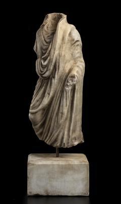 Vintage Figurative Marble Torso Sculpture of a Man Grand Tour After the Antique - 2000796