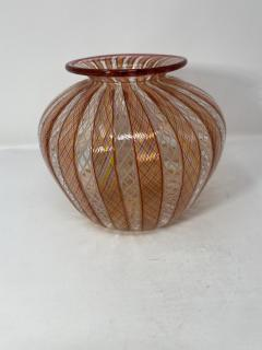 Vintage Filligrana Murano Glass Vase - 2134058