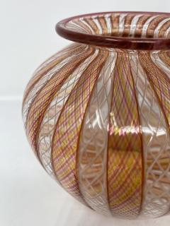 Vintage Filligrana Murano Glass Vase - 2134059