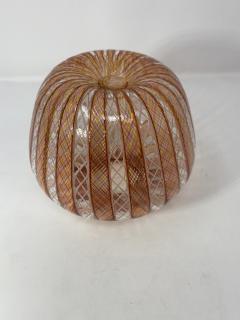 Vintage Filligrana Murano Glass Vase - 2134061