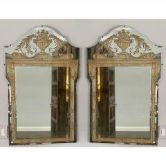 Vintage French Art Deco Eglomise Regency Mirrors a Pair - 2141863