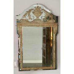 Vintage French Art Deco Eglomise Regency Mirrors a Pair - 2141865