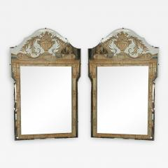 Vintage French Art Deco Eglomise Regency Mirrors a Pair - 2144888