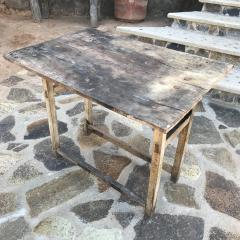 Vintage Hacienda Antique Work Table in Rustic Edge Mexican Mesquite Wood 1940s - 1896294