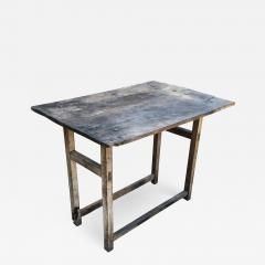 Vintage Hacienda Antique Work Table in Rustic Edge Mexican Mesquite Wood 1940s - 1898491
