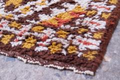 Vintage Hand Knotted Berber Wool Tribal Rug - 1314240