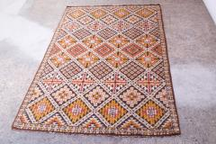 Vintage Hand Knotted Berber Wool Tribal Rug - 1314242