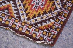 Vintage Hand Knotted Berber Wool Tribal Rug - 1314247
