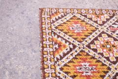 Vintage Hand Knotted Berber Wool Tribal Rug - 1314252