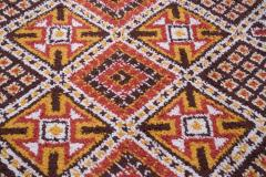 Vintage Hand Knotted Berber Wool Tribal Rug - 1314284