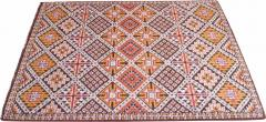 Vintage Hand Knotted Berber Wool Tribal Rug - 1316865