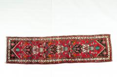 Vintage Hand Knotted Iranian Wool Area Rug Runner - 1169131