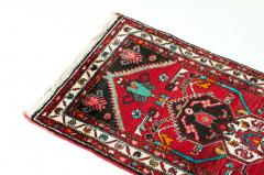 Vintage Hand Knotted Iranian Wool Area Rug Runner - 1169133