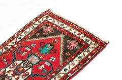 Vintage Hand Knotted Iranian Wool Area Rug Runner - 1169134