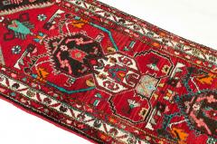 Vintage Hand Knotted Iranian Wool Area Rug Runner - 1169135