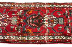 Vintage Hand Knotted Iranian Wool Area Rug Runner - 1169136