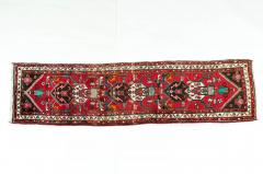 Vintage Hand Knotted Iranian Wool Area Rug Runner - 1169137