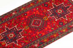 Vintage Hand Knotted Persian Wool Area Rug Runner - 1169125