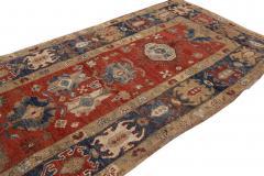 Vintage Heriz Wool Runner - 1559198