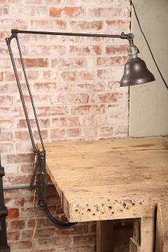 Vintage Industrial Dazor Drafting Table Lamp Light   310975