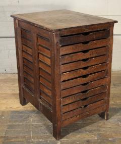 Good Vintage Industrial Wood Hamilton Multi Drawer Printers Storage Cabinet    313910