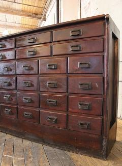 Vintage Industrial Wood Hardware Multi Drawer Storage Apothecary Cabinet    313894