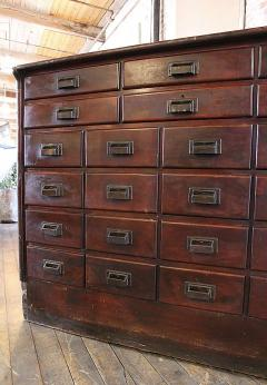 Charmant Vintage Industrial Wood Hardware Multi Drawer Storage Apothecary Cabinet    313895