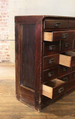 Apothecary Cabinet vintage industrial wood hardware multi drawer storage apothecary