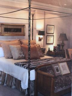 Vintage Iron and Brass California King Bed - 958861