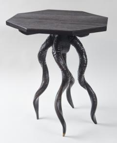 Vintage Italian Black Horn Side Table Drinks Table - 1399105