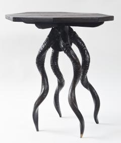 Vintage Italian Black Horn Side Table Drinks Table - 1399118