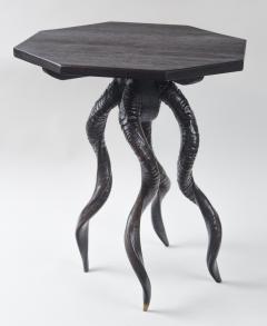 Vintage Italian Black Horn Side Table Drinks Table - 1399124