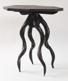 Vintage Italian Black Horn Side Table Drinks Table - 1399126