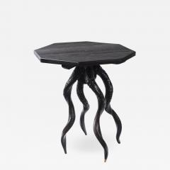 Vintage Italian Black Horn Side Table Drinks Table - 1400195