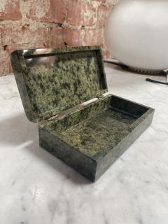 Vintage Italian Green Stone Box 1970s - 2074847