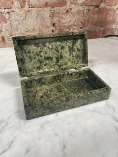 Vintage Italian Green Stone Box 1970s - 2074848