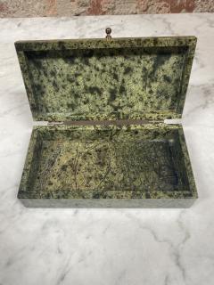 Vintage Italian Green Stone Box 1970s - 2074849