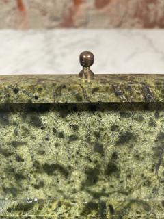 Vintage Italian Green Stone Box 1970s - 2074850
