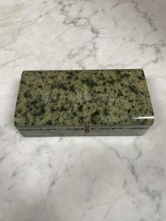 Vintage Italian Green Stone Box 1970s - 2074851