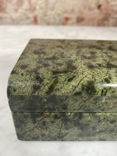 Vintage Italian Green Stone Box 1970s - 2074852