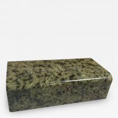 Vintage Italian Green Stone Box 1970s - 2075771
